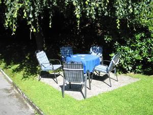 Landgasthof - Café Affelner Mühle - Sitzgruppe im Garten