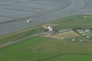 Luftbild vom Dockkoog, © Nordseehotel Husum