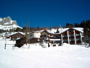 Winter in Braunwald beim Hotel Cristal