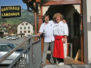 Das Gastgeberpaar: Andy und Madlene Rominger