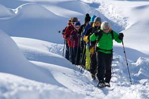 Partnun: Idealer Ausgangspunkt für Ski- und Schneeschuhtouren