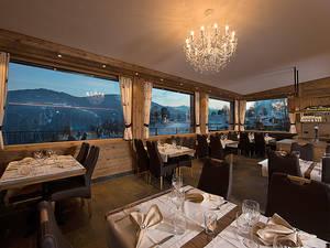 Das herrliche Panorama-Restaurant im Schlössli in Seewis