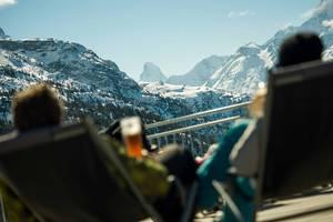 Aussicht aufs Matterhorn geniessen