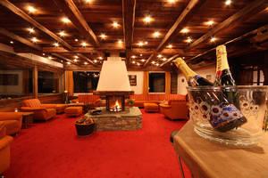 Gemütliche Lounge im Grächerhof