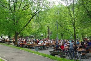 Biergarten im Stadtpark