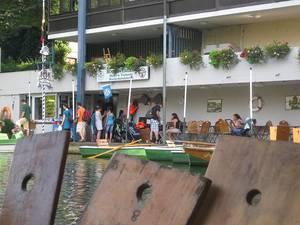 Ausschank bei der Bootsvermietung Märkle in Tübingen