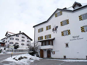Restaurant Ritterhof Fideris im Winter