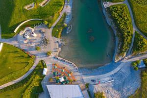 Luftaufnahme © Schieferhaus - Genuss am See