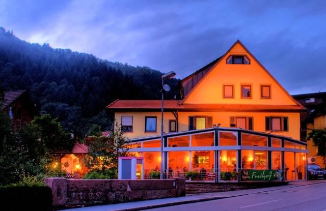Hotel Freihof mit Blick auf unseren Wintergarten