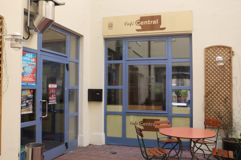 Eingangsbereich Cafe Central © Stadt Wasserburg am Inn