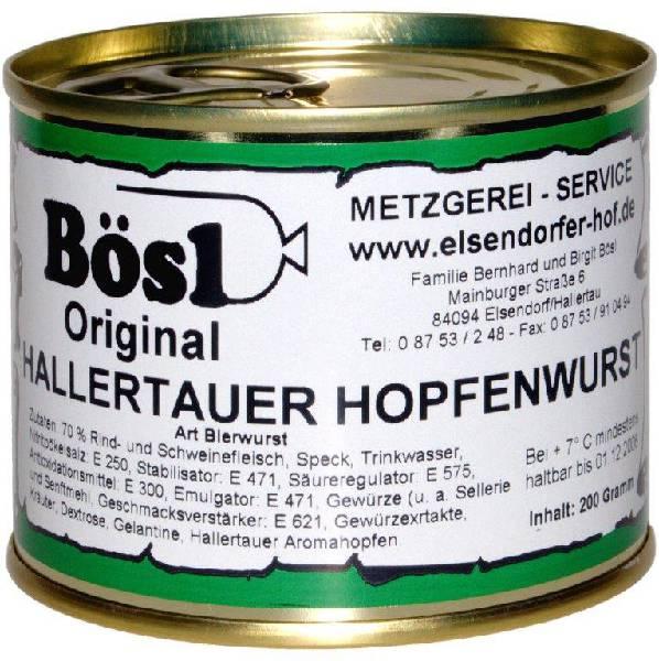 Spezialität - Hopfenwurst vom Elsendorfer Hof im Hopfenland Hallertau
