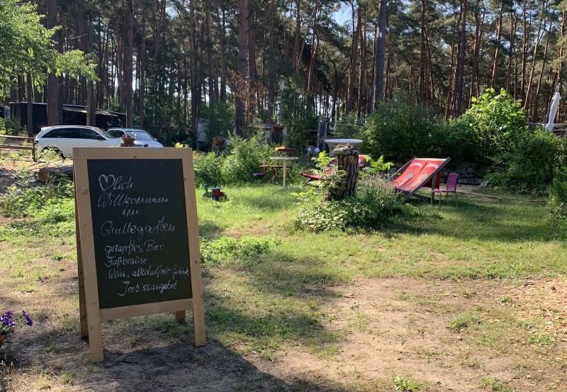 waldgastst tte zur quelle auf dem campingplatz seenland oder spree. Black Bedroom Furniture Sets. Home Design Ideas