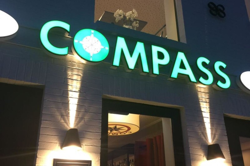 Eingang zum Restaurant Compass (c) Restaurant Compass