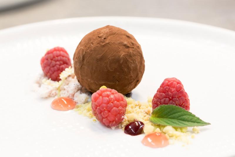 Dessert im Restaurant Niedmühle