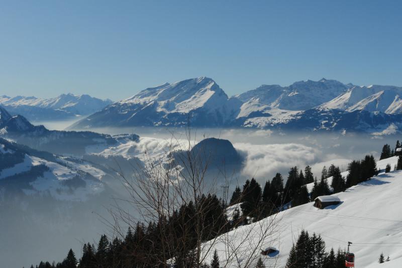 Aussicht vom Berggasthaus Sassauna