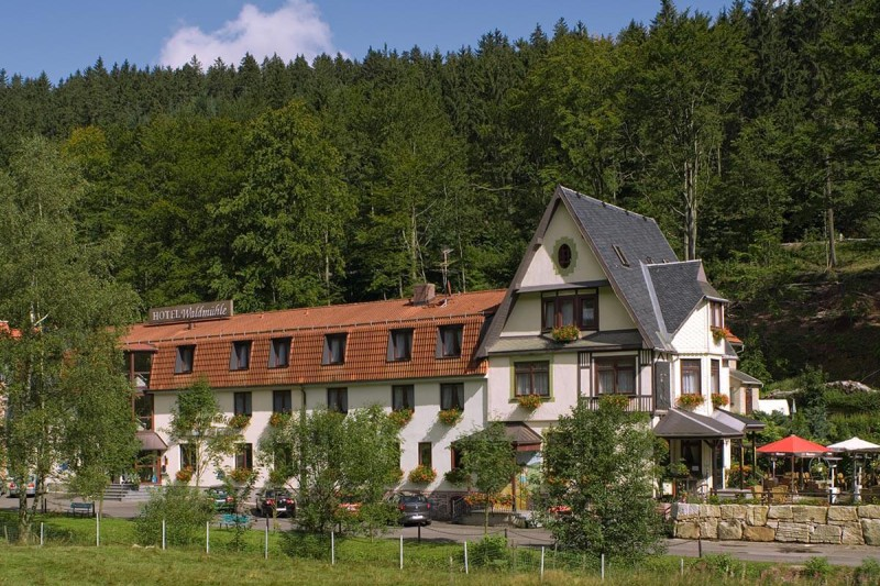 Außenansicht Hotel Waldmühle