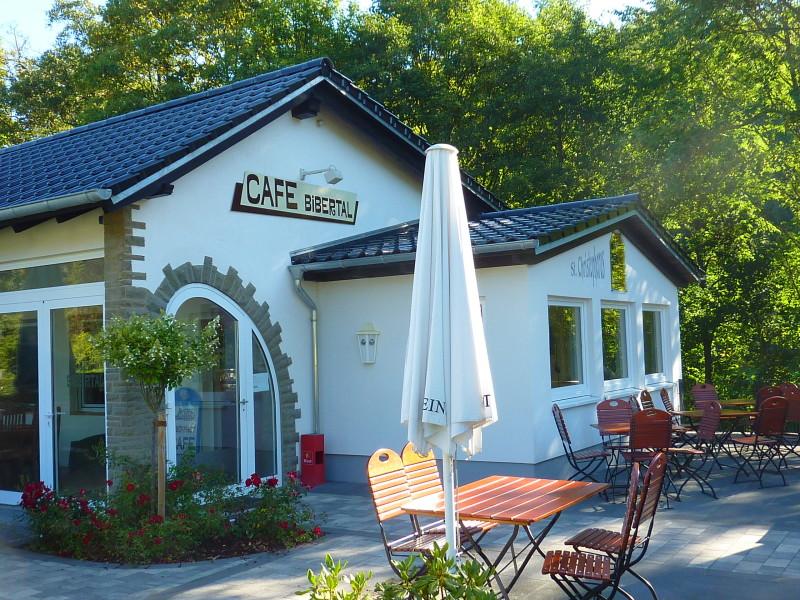 Blick auf das Cafè Bibertal