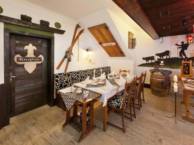 Innenansicht Restaurant Walliserhof