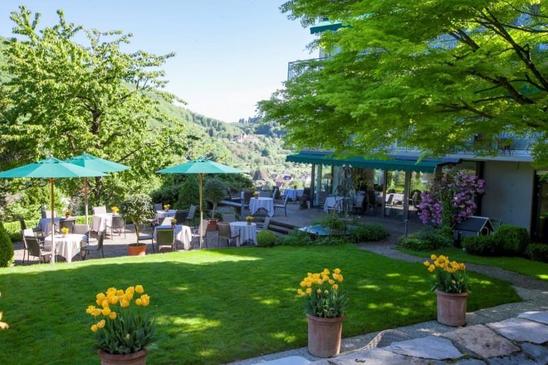 Garten Cafe im Hotel Schlossberg