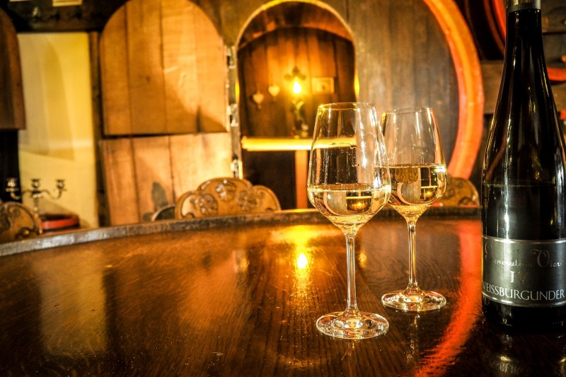 Wein aus eigenem Anbau