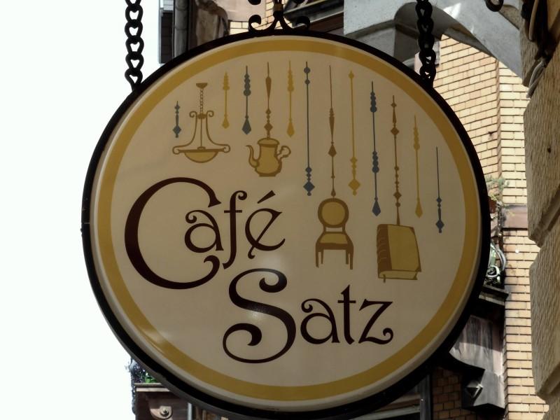Cafe Satz signpost
