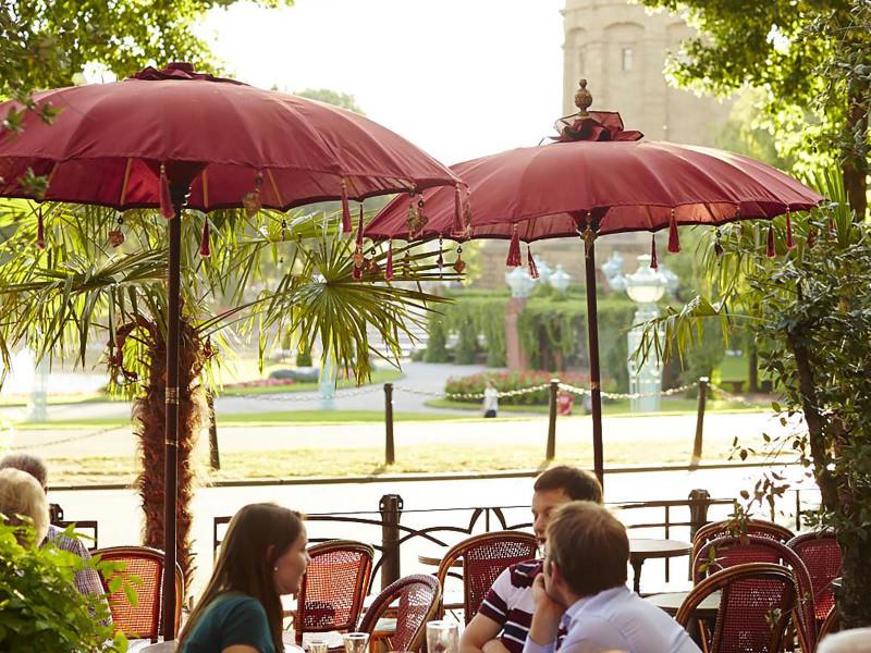 Mannheim, Café Flo ©Stadtmarketing Mannheim GmbH; Daniel Lukac