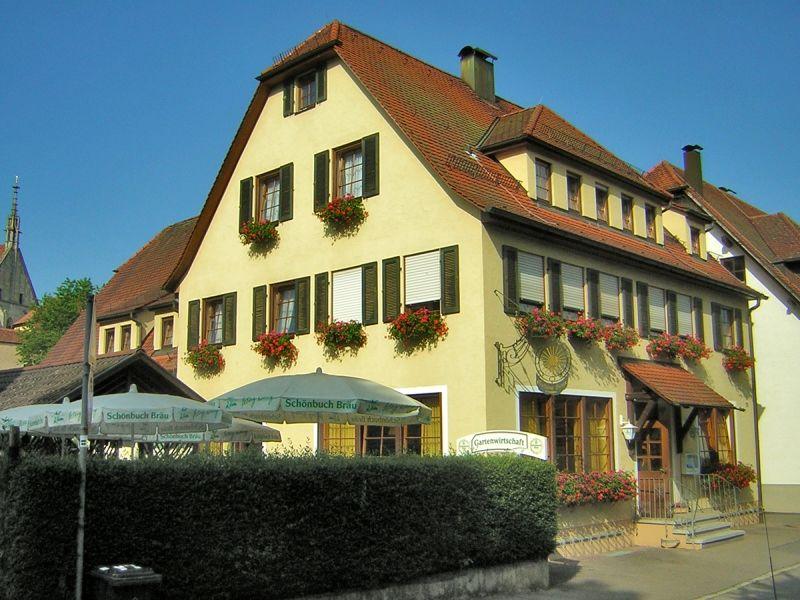 Sonne Gartenwirtschaft in Tübingen Bebenhausen