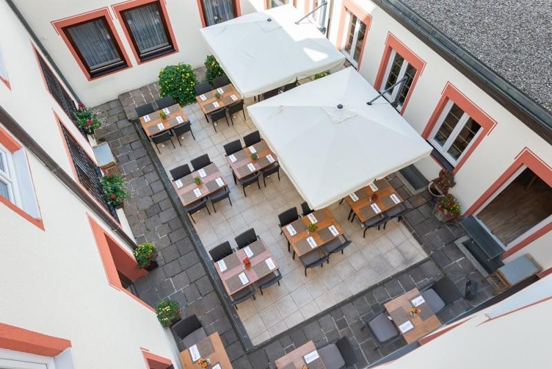 Marc Sielhöfer_Luftaufnahme des Außenbereichs des Bayerischen Hofs